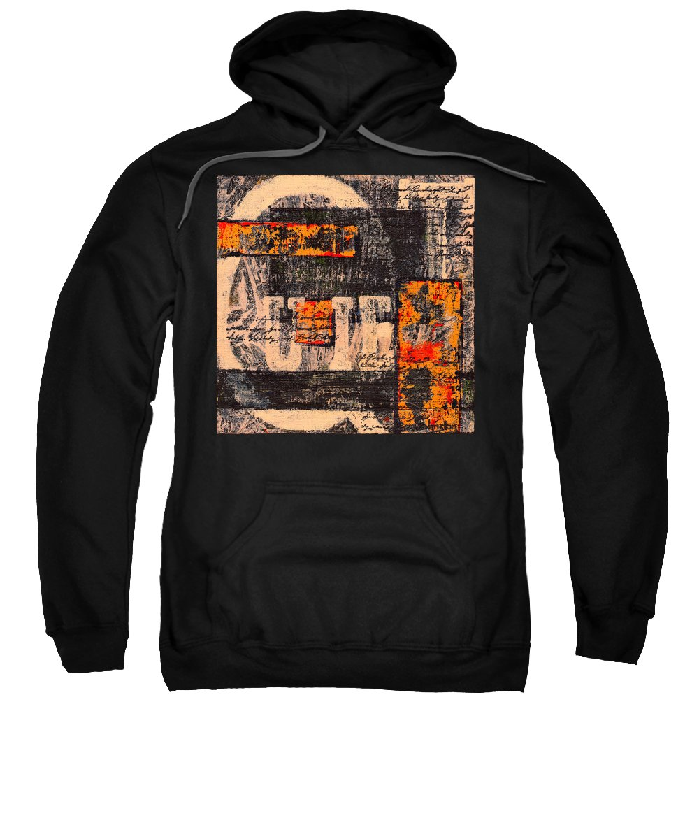 Quiet Sweatshirt featuring the painting All Is Quiet by Cindy Johnston