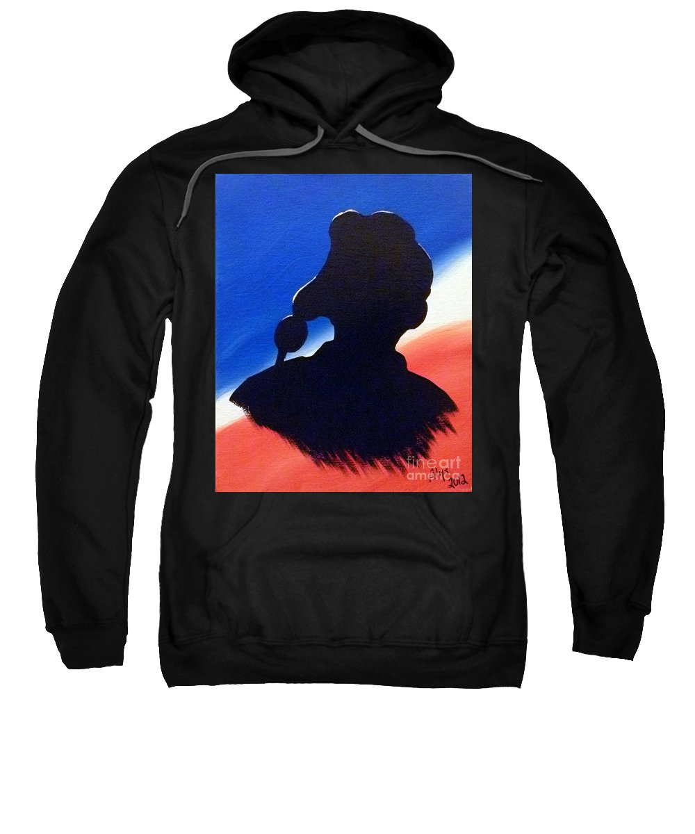America Flyboy Sweatshirt featuring the painting American Flyboy by Alys Caviness-Gober