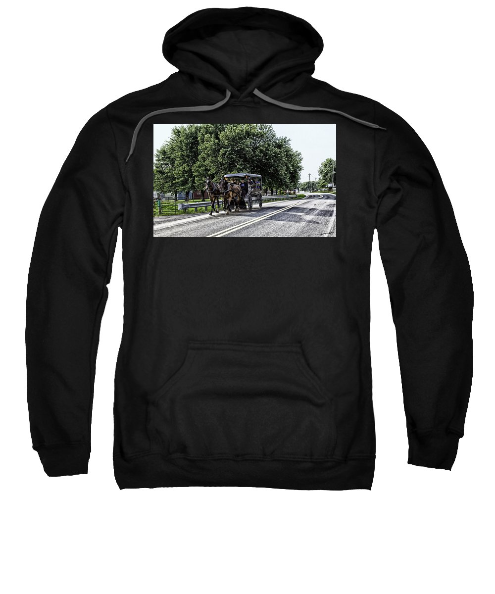 Horses Sweatshirt featuring the photograph Amish Country - Intercourse Pennsylvania by Madeline Ellis