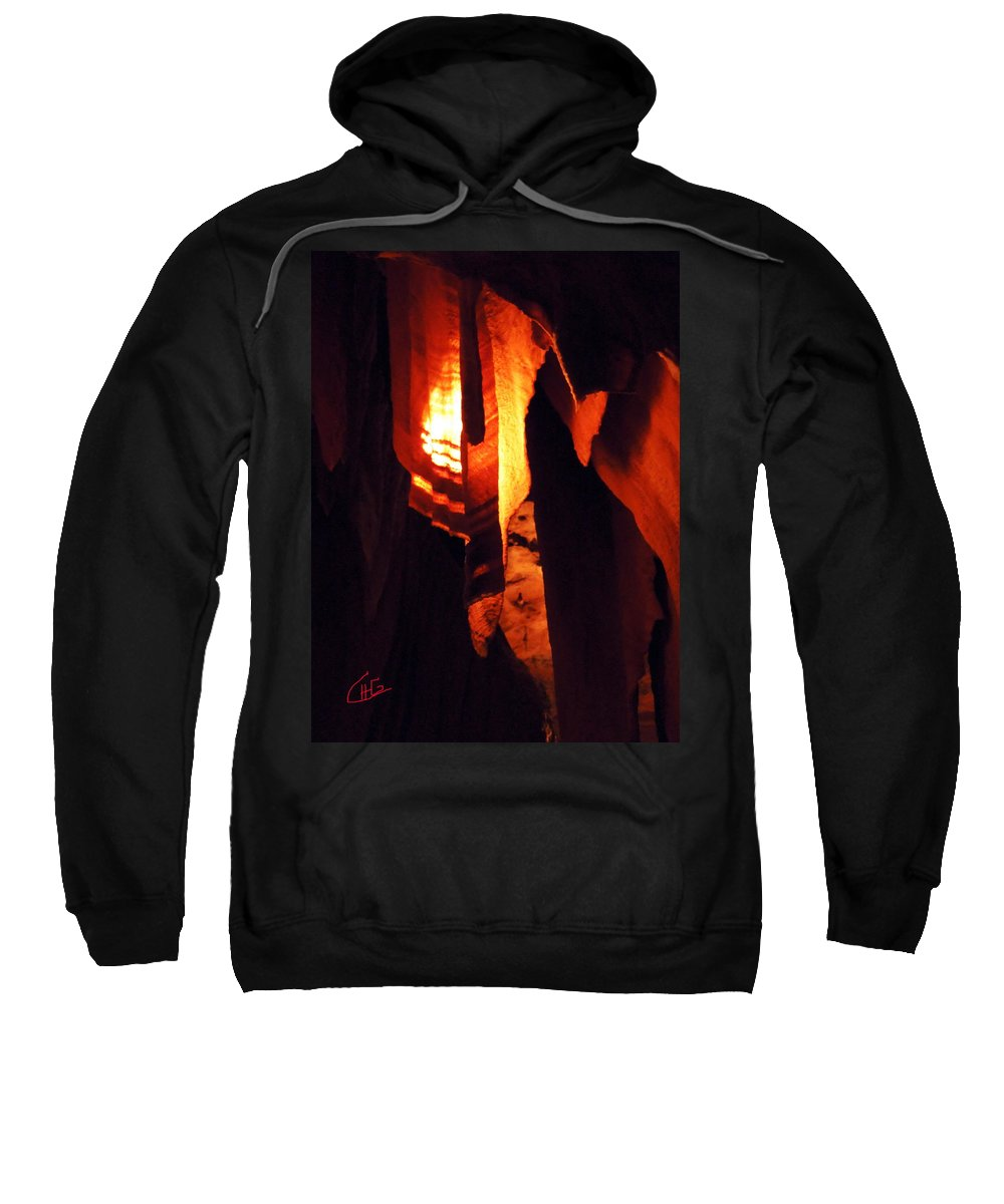 Colette Sweatshirt featuring the photograph Ancient Old Grotte Magdaleine by Colette V Hera Guggenheim