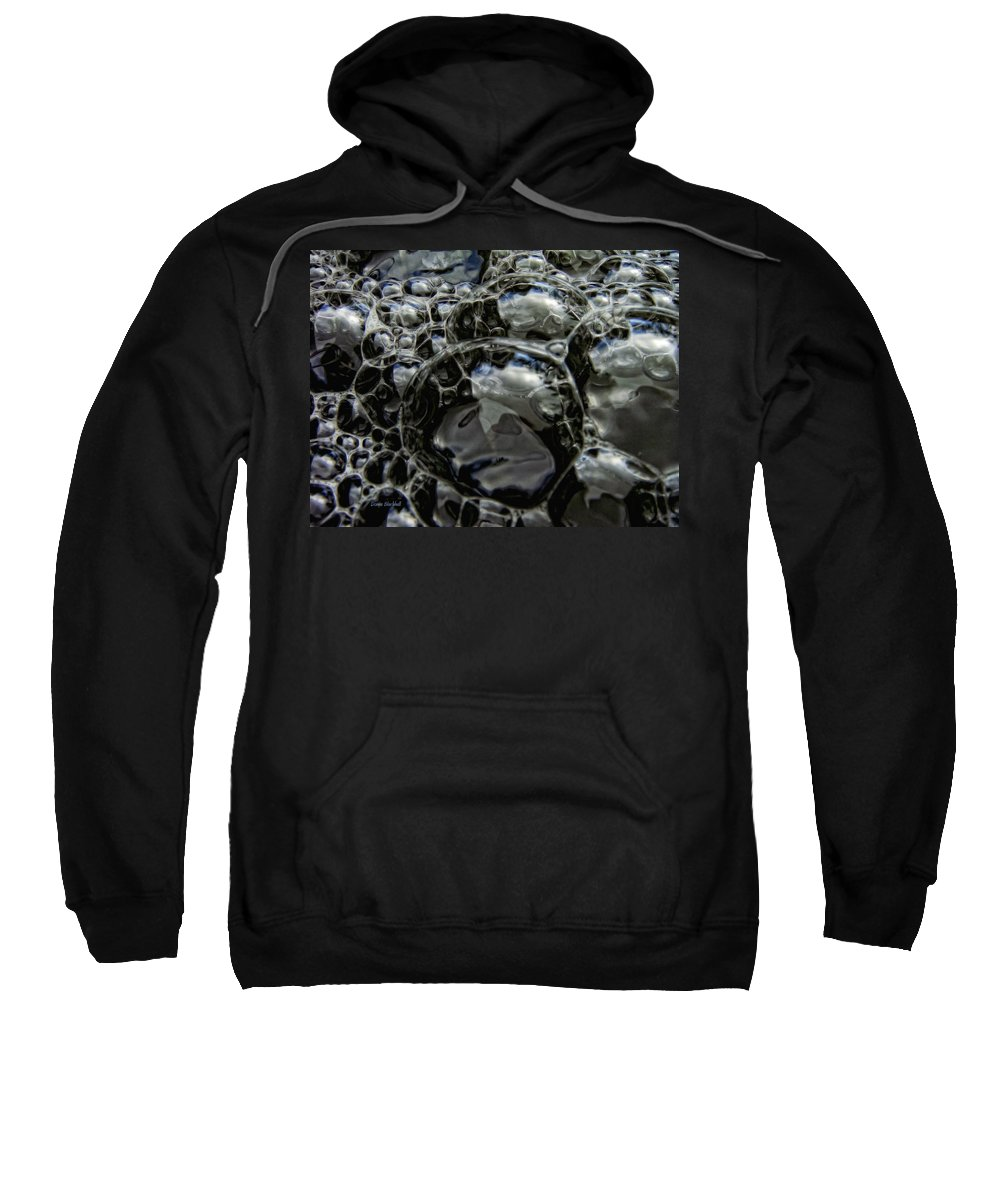 Bubble Sweatshirt featuring the photograph Angry Bubble Mob by Donna Blackhall