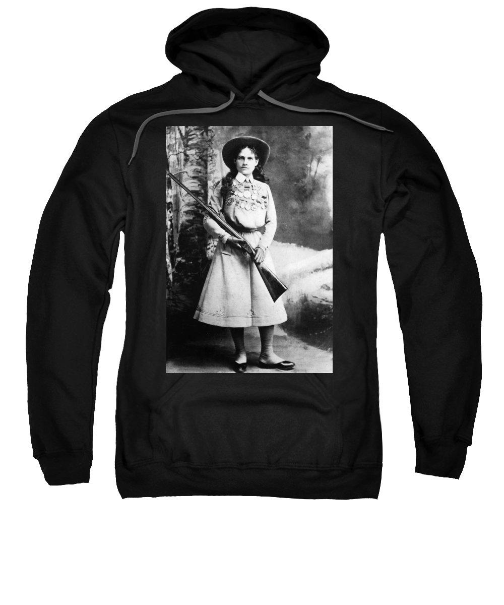 19th Century Sweatshirt featuring the photograph Annie Oakley (1860-1926) by Granger