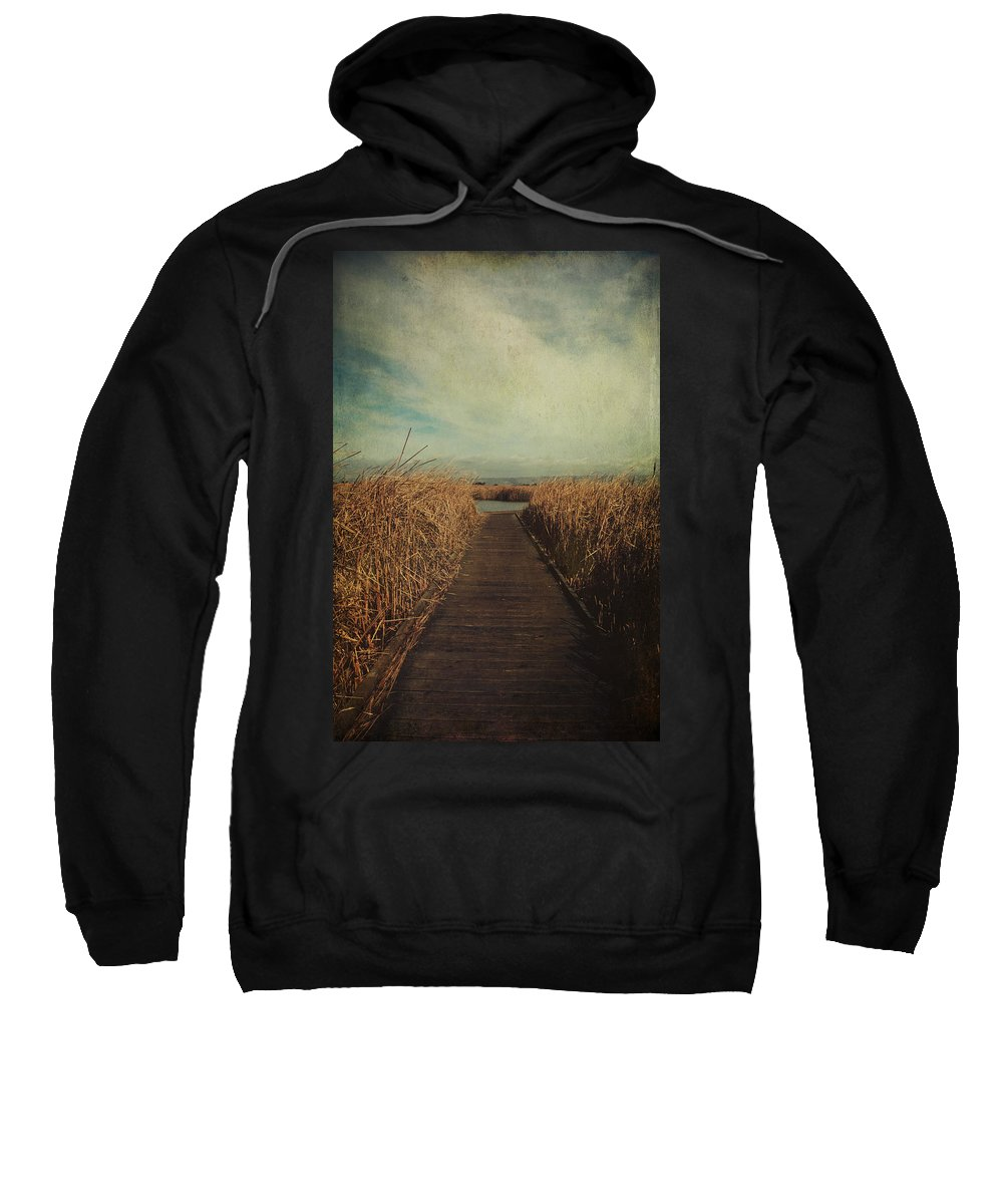 Coyote Hills Regional Park Sweatshirt featuring the photograph Anywhere You Go by Laurie Search