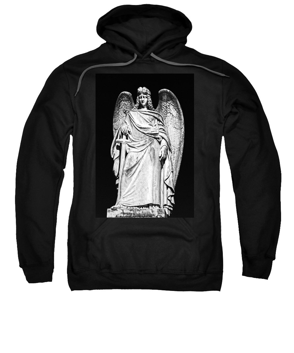 Angel Sweatshirt featuring the photograph Archangel By Night by Georgiana Romanovna