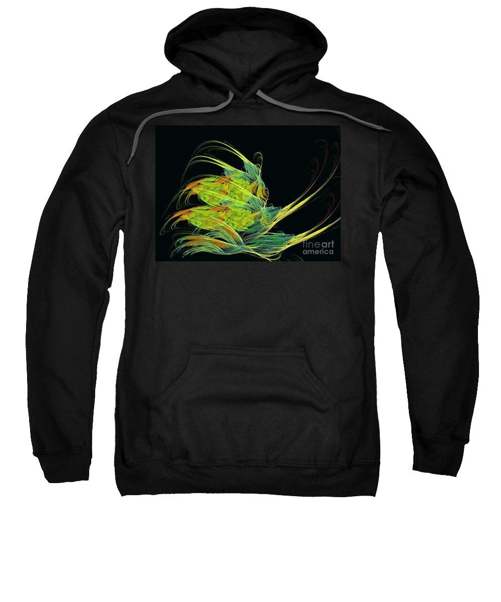 Apophysis Sweatshirt featuring the digital art Argonaut by Kim Sy Ok