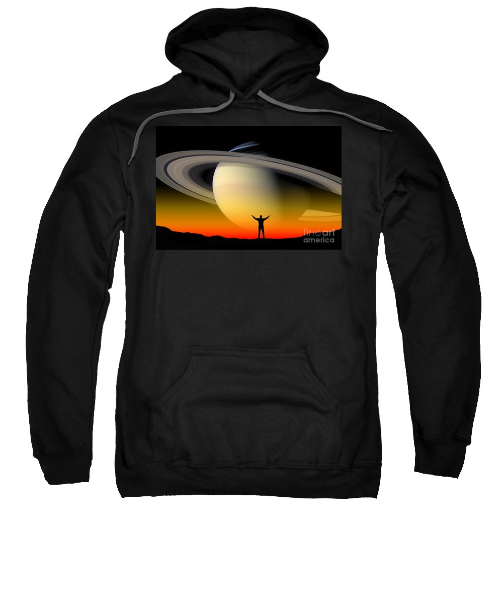 Astronomy Sweatshirt featuring the digital art Astronomy by Larry Landolfi and Photo Reseachers