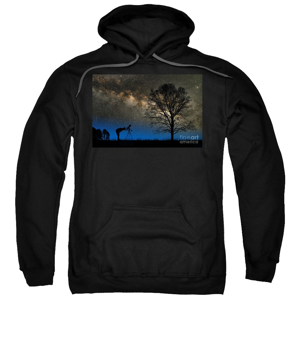 Astronomy Sweatshirt featuring the photograph Astronomy by Larry Landolfi and Photo Researchers