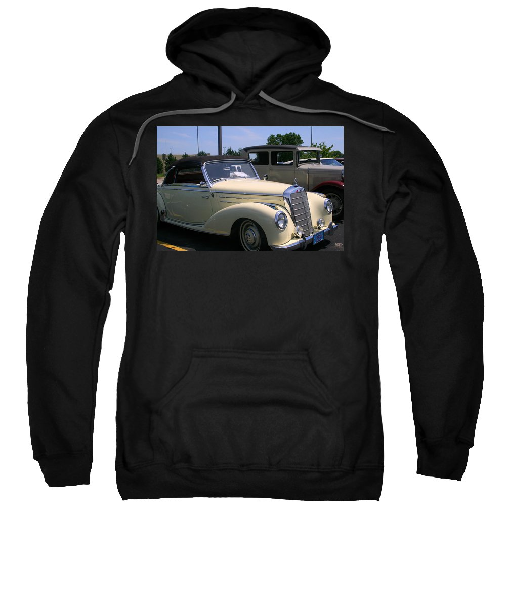 Beautiful.cream Sweatshirt featuring the photograph At The Car Show by Kay Novy