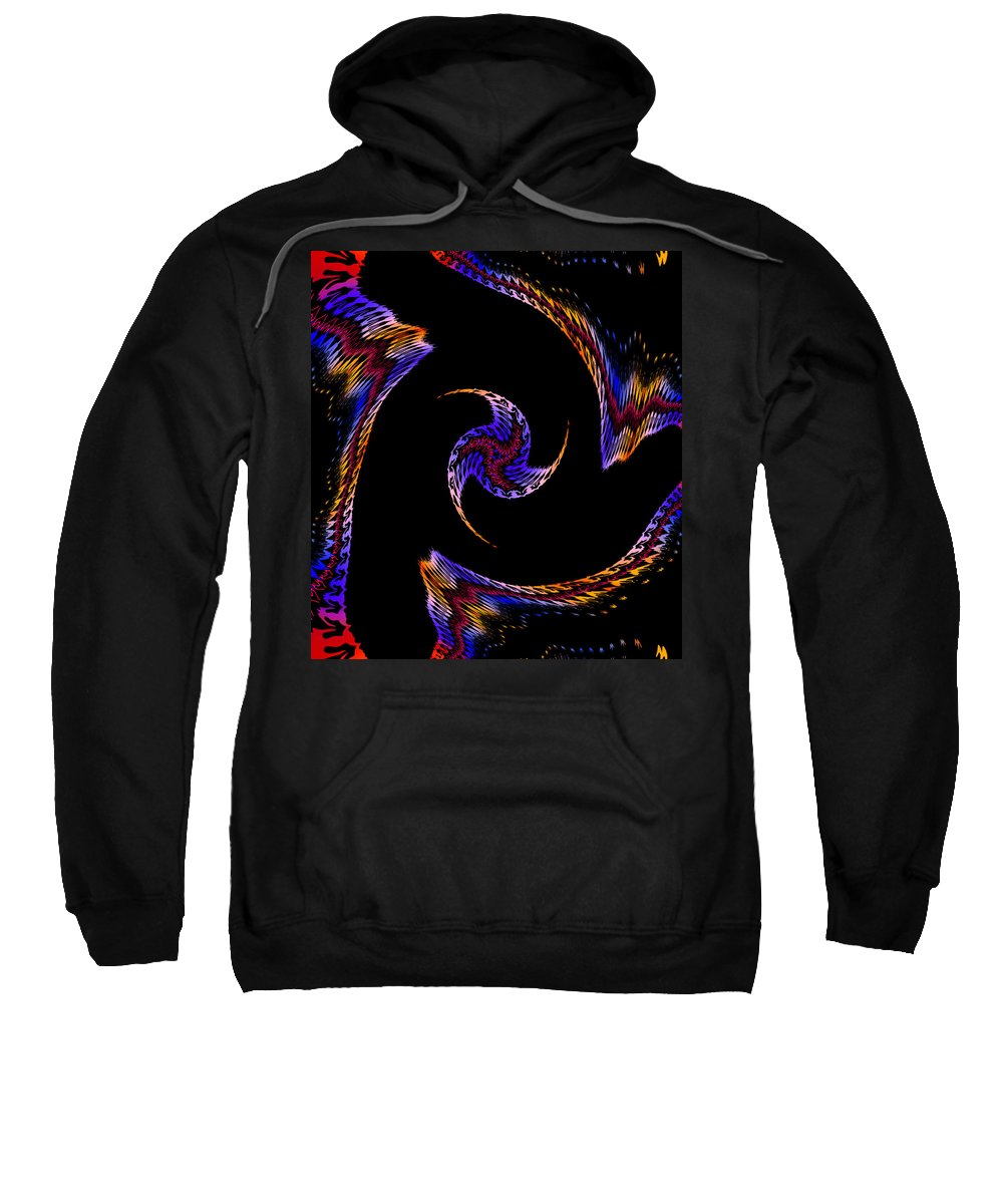Form Forms Black White Triangle Geometric Abstract Art Minimalism Spiral Digital Painting Color Colorful End Universe Sweatshirt featuring the digital art At The End Of The Universe by Steve K