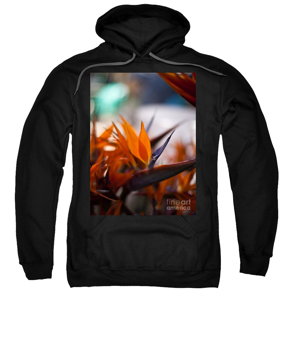 Tropical Sweatshirt featuring the photograph At The Flower Market by Mike Reid