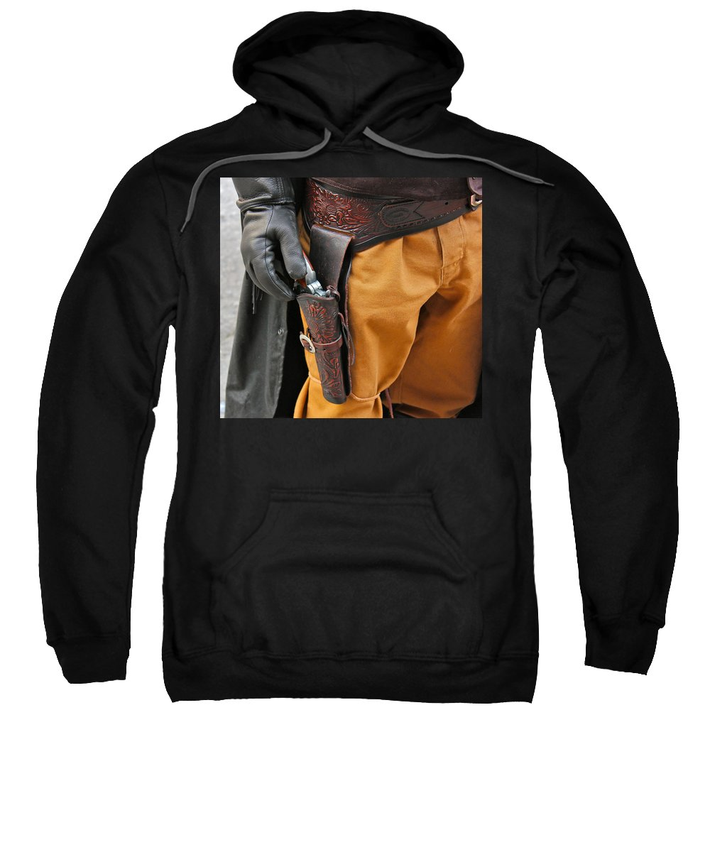 Gunfighter Photo Sweatshirt featuring the photograph At The Ready by Bill Owen