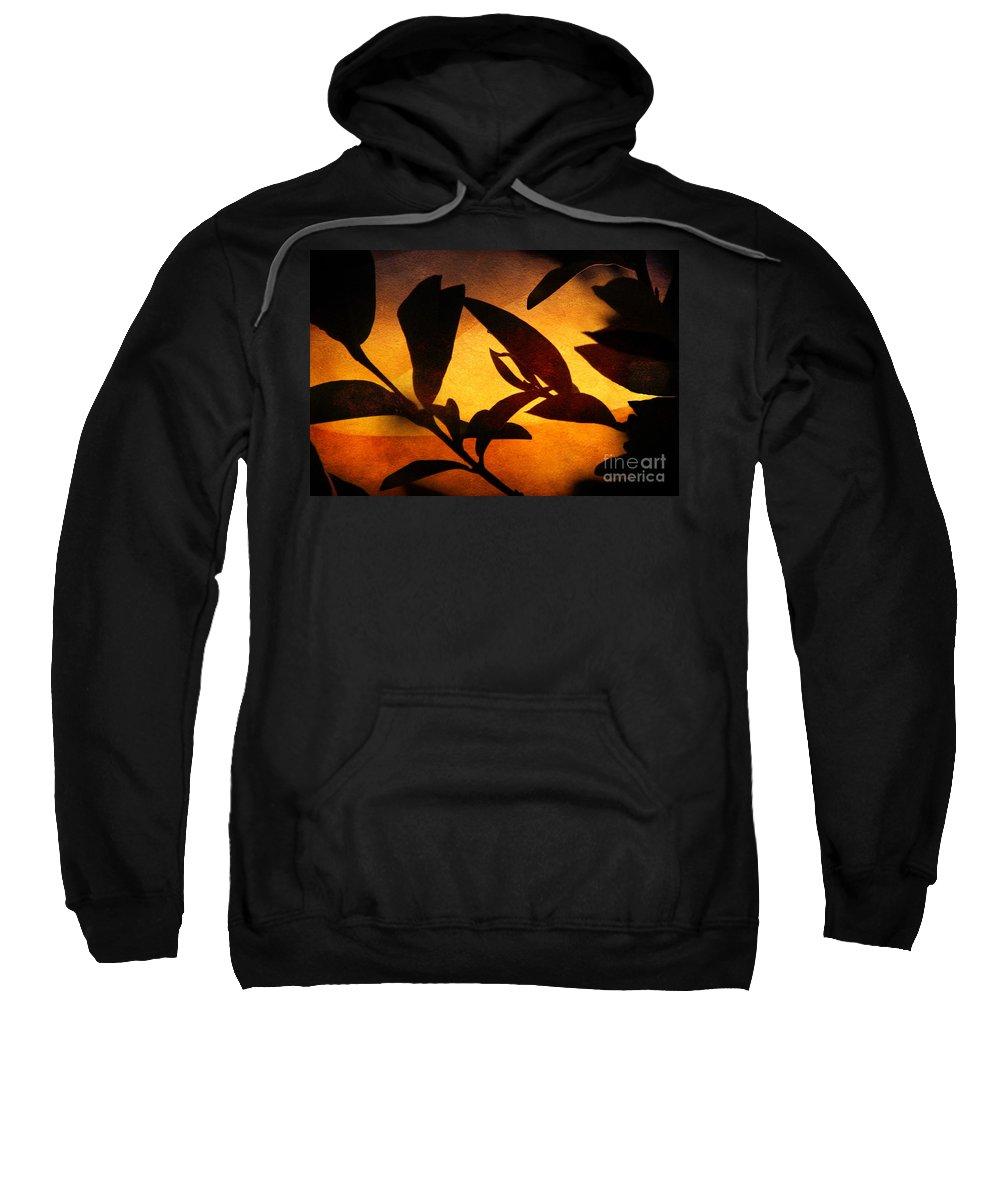 Autumn Sweatshirt featuring the photograph Autumn Abstract by Ellen Cotton