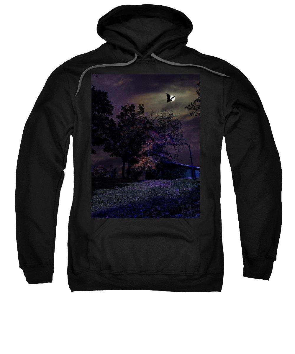 Acrylic Prints Sweatshirt featuring the photograph Autumn Night by John Herzog