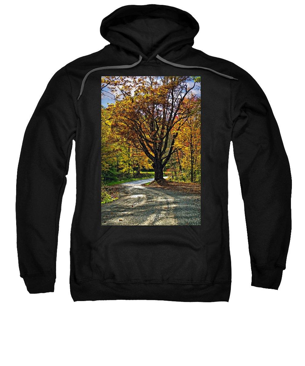 West Virginia Sweatshirt featuring the photograph Autumn Oak by Steve Harrington