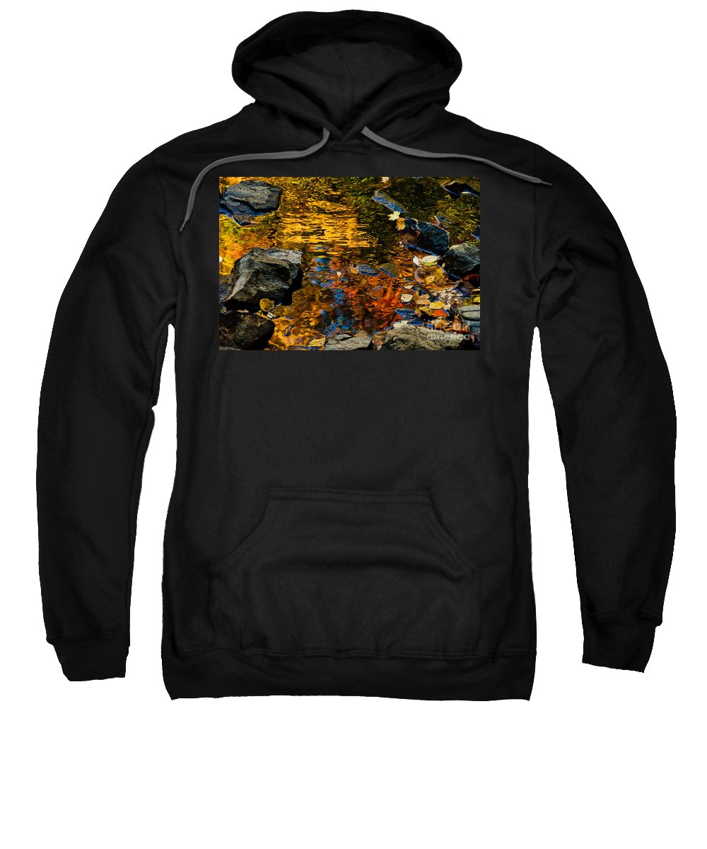 Water Sweatshirt featuring the photograph Autumn Reflections by Cheryl Baxter