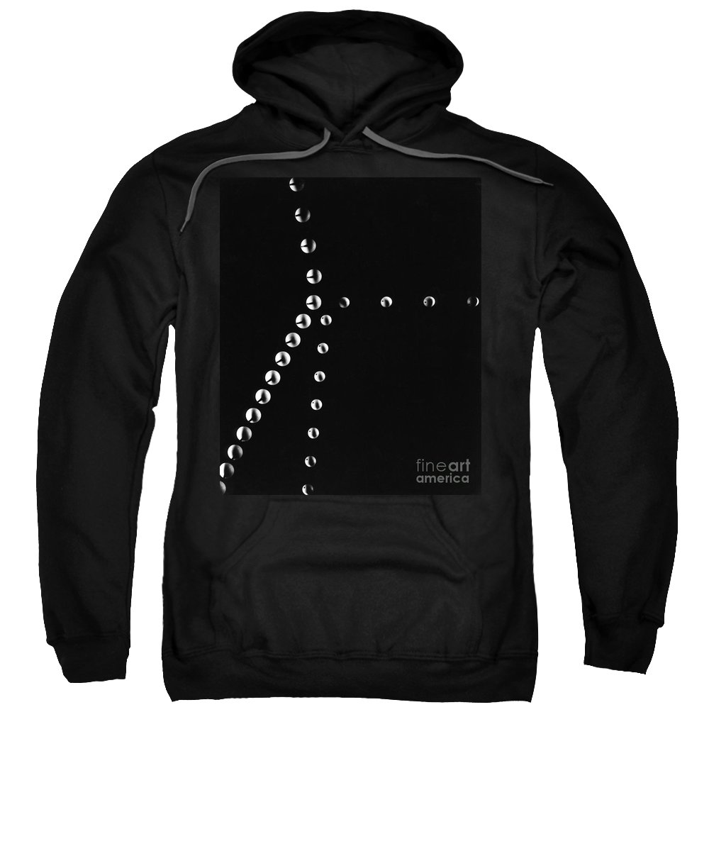 Motion Sweatshirt featuring the photograph Balls In Motion Colliding by Berenice Abbott