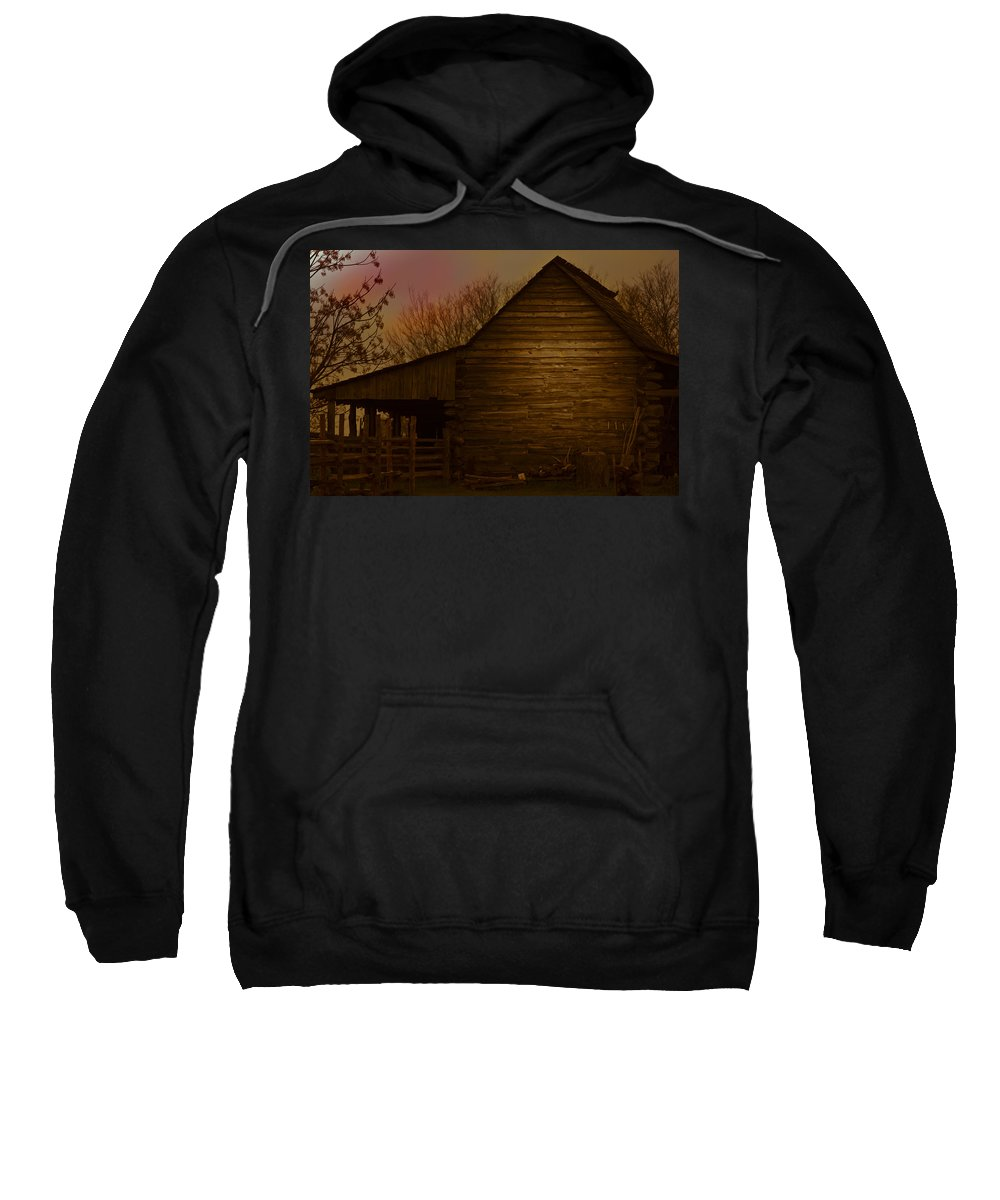 Sweatshirt featuring the photograph Barn After Lightroom by Kim Henderson