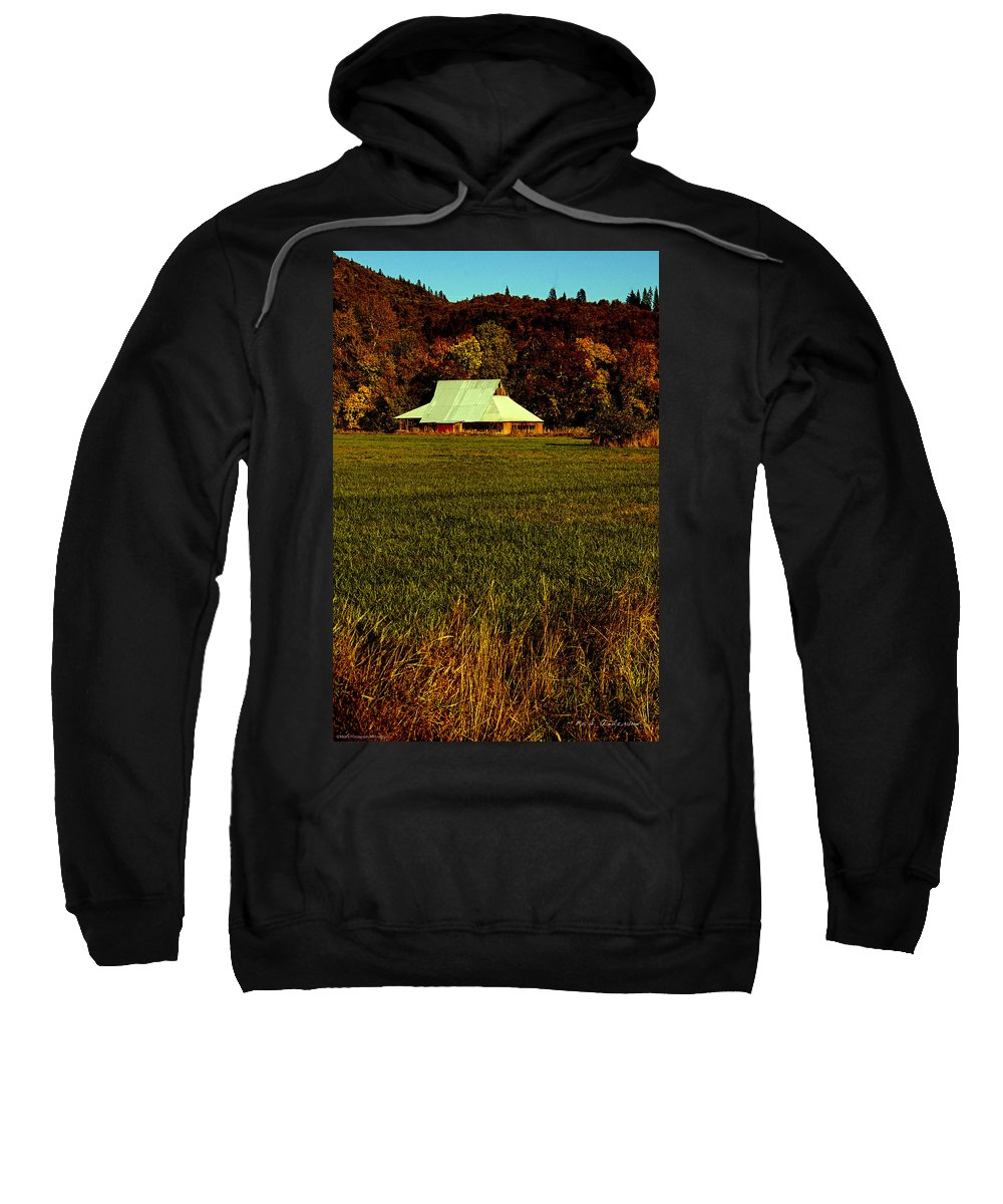 60s Sweatshirt featuring the photograph Barn In The Style Of The 60s by Mick Anderson