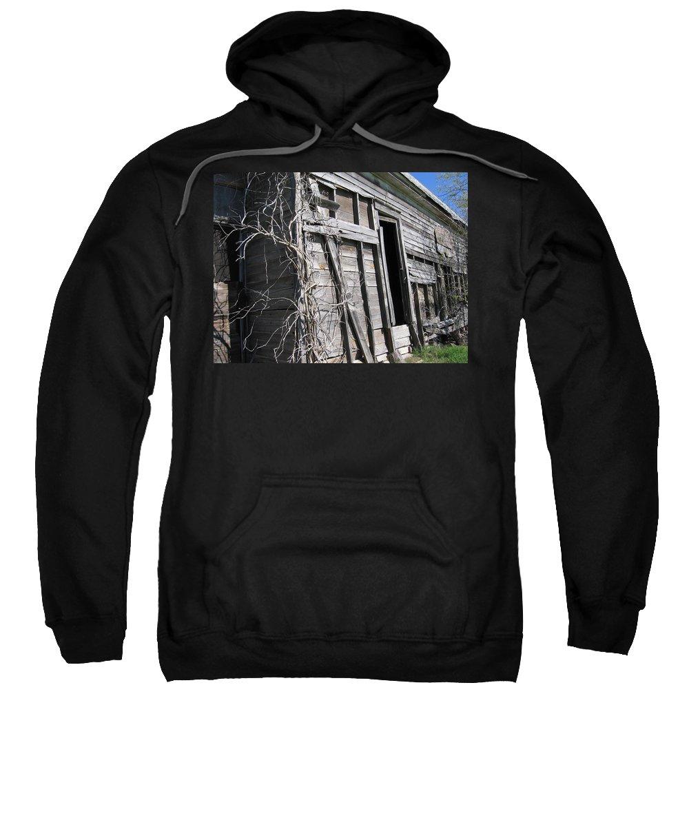 Barn Sweatshirt featuring the photograph Barn Side by Amy Hosp