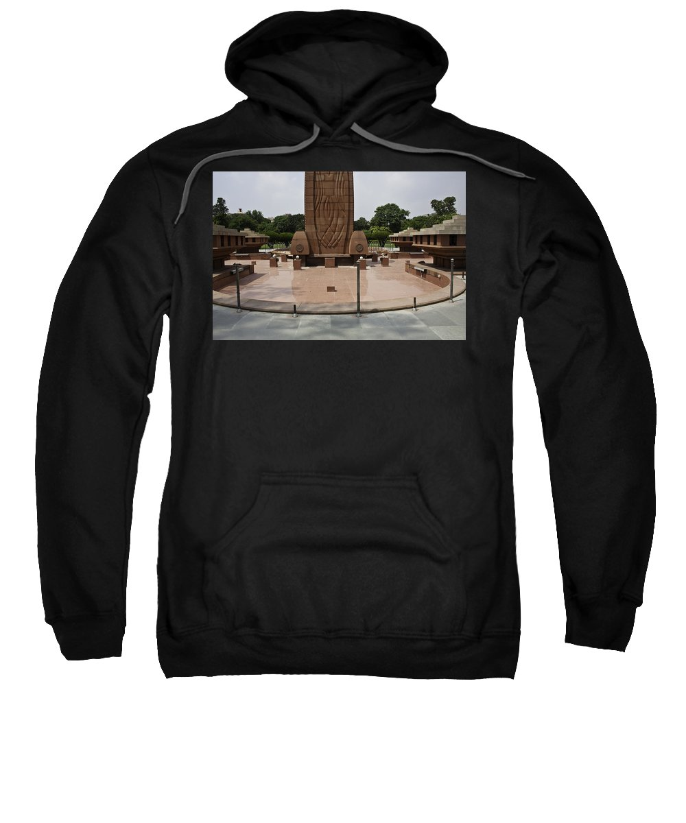 Amritsar Sweatshirt featuring the photograph Base Of The Jallianwala Bagh Memorial In Amritsar by Ashish Agarwal