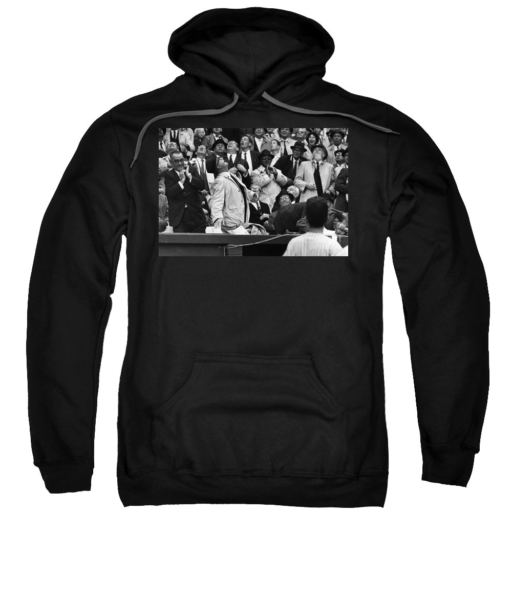 1962 Sweatshirt featuring the photograph Baseball Crowd, 1962 by Granger