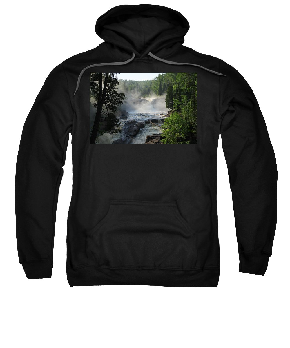 Sweatshirt featuring the photograph Beaver River In The Fog 2 by Joi Electa