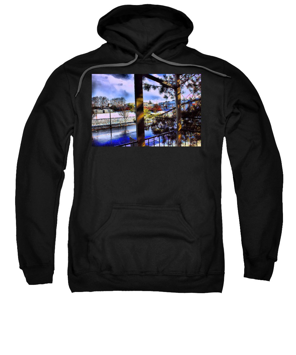 Urban Impressionism 2011 Sweatshirt featuring the mixed media Beaverton H.s. Winter 2011 by Terence Morrissey