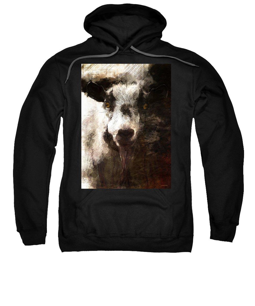 Ron Jones Sweatshirt featuring the digital art Beelzebub by Ron Jones