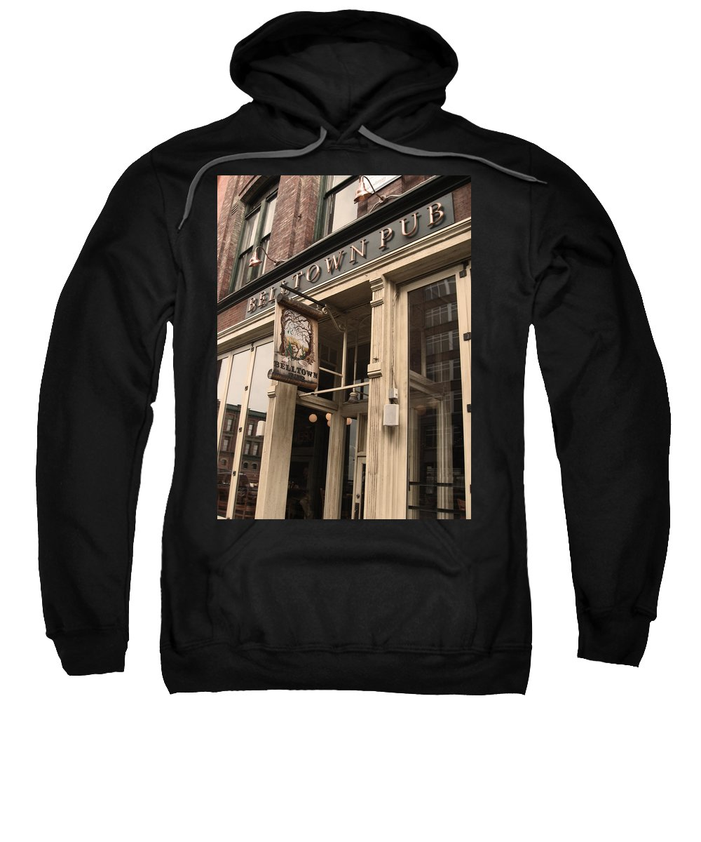 Seattle Sweatshirt featuring the photograph Belltown Pub by Kym Backland