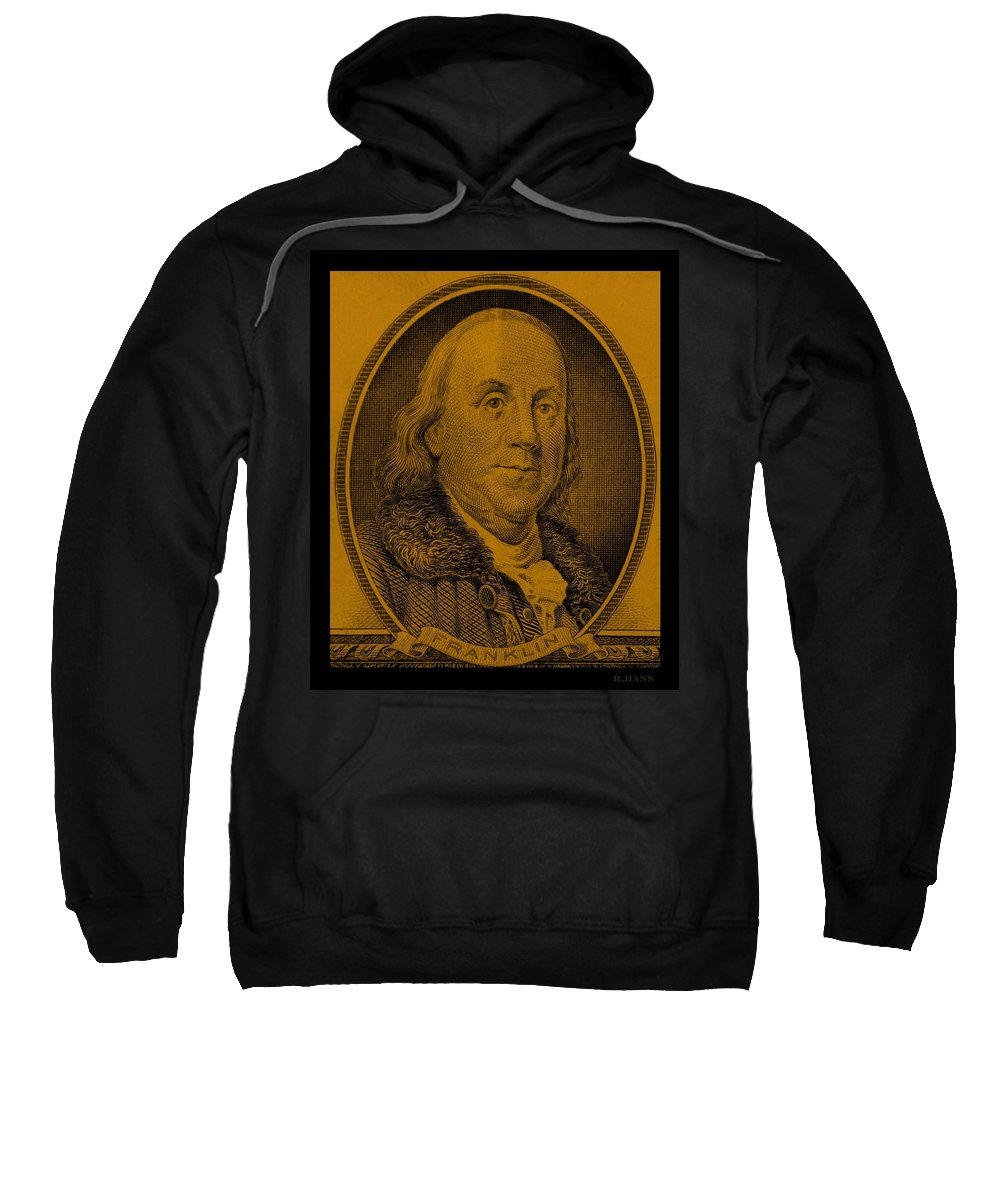 Ben Franklin Sweatshirt featuring the photograph Ben Franklin In Orange by Rob Hans