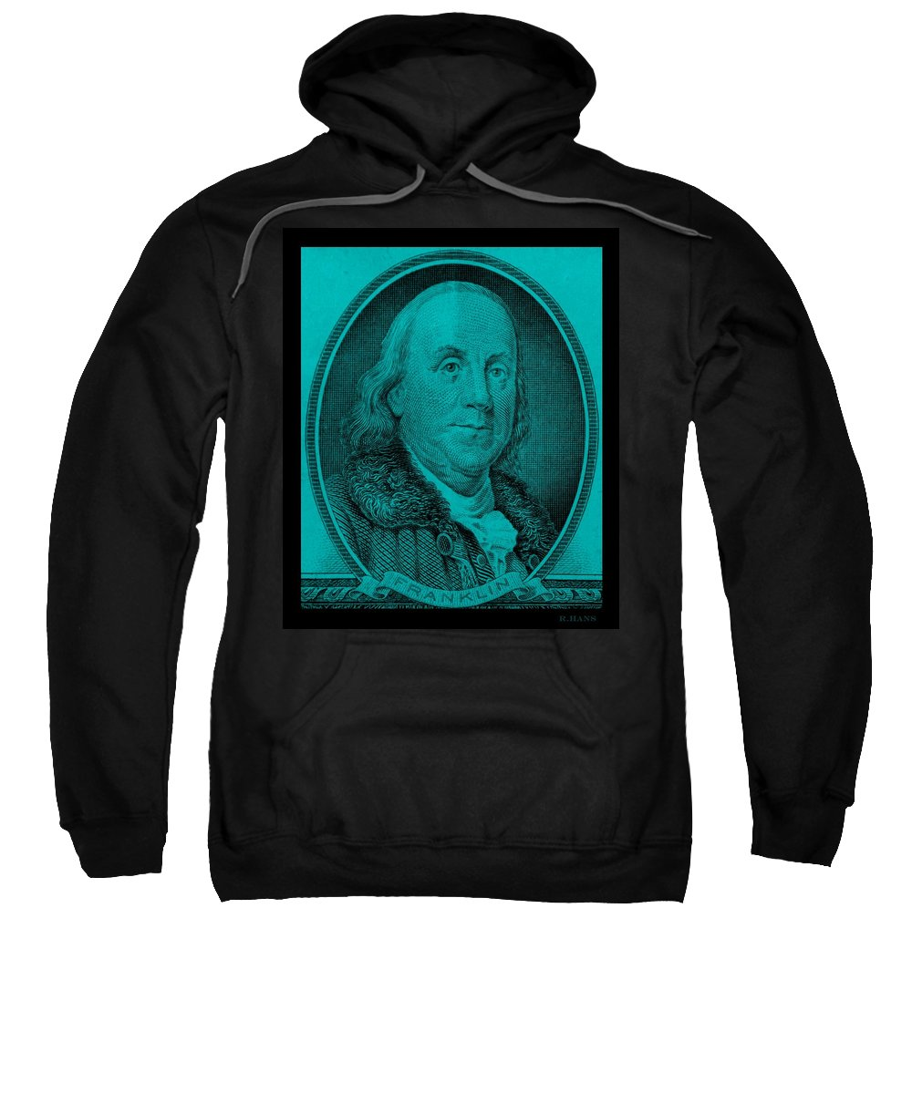 Ben Franklin Sweatshirt featuring the photograph Ben Franklin In Turquois by Rob Hans