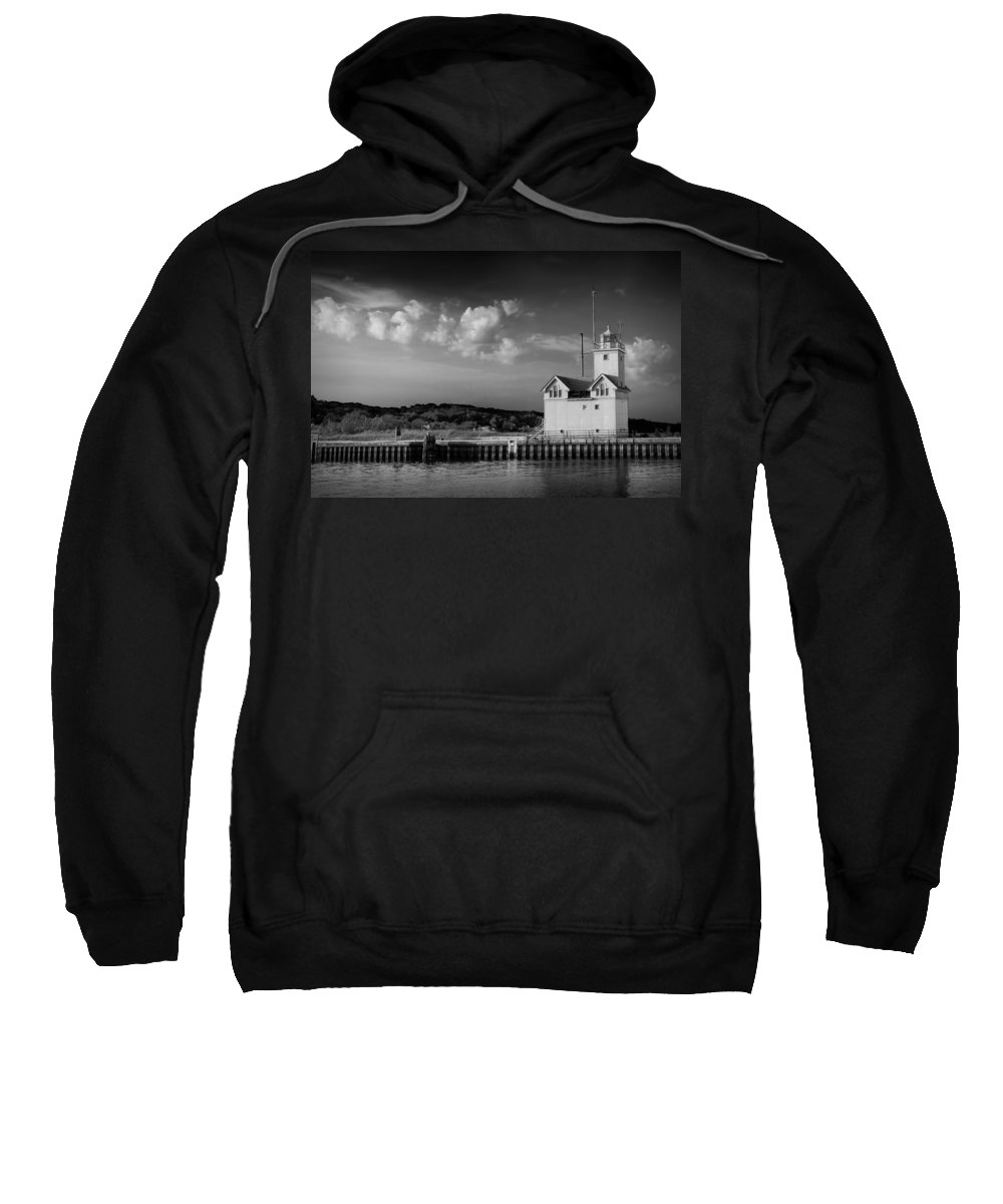 Art Sweatshirt featuring the photograph Big Red Lighthouse In Holland Michigan by Randall Nyhof