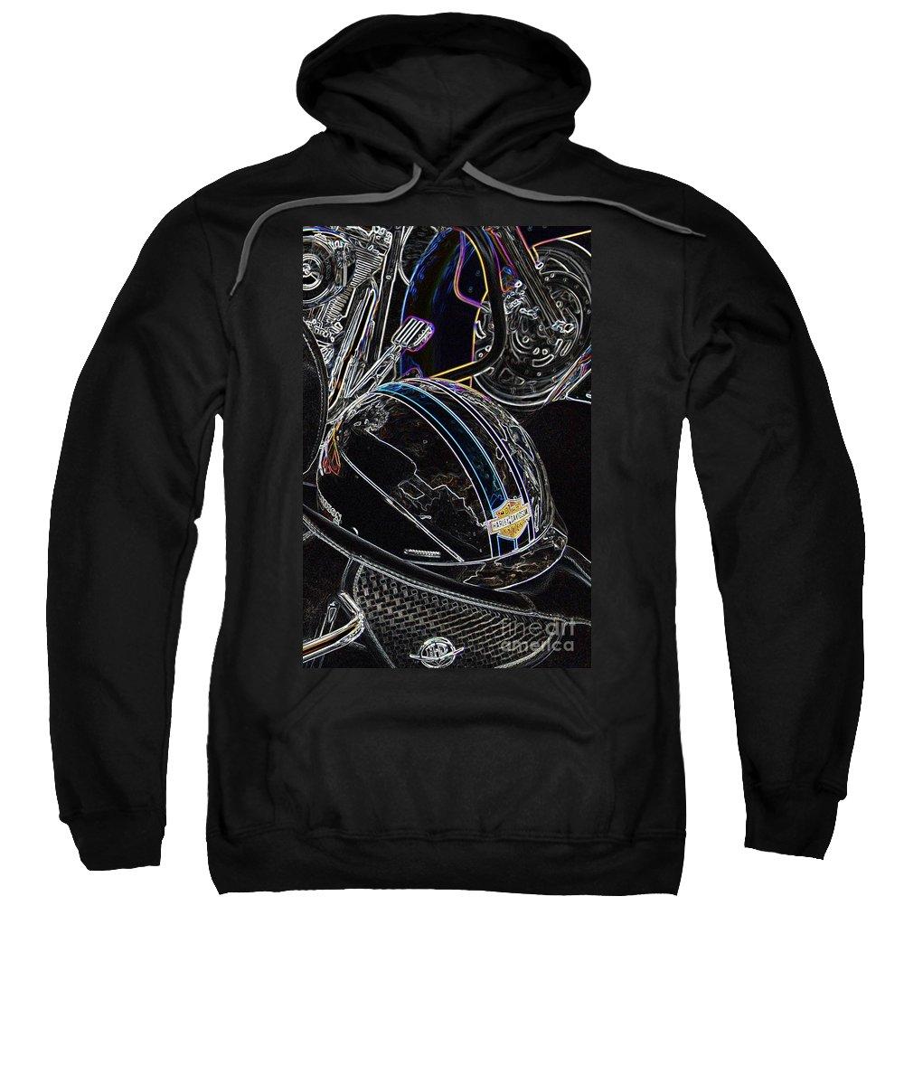 Harley Davidson Sweatshirt featuring the photograph Biker Beanie by Anthony Wilkening