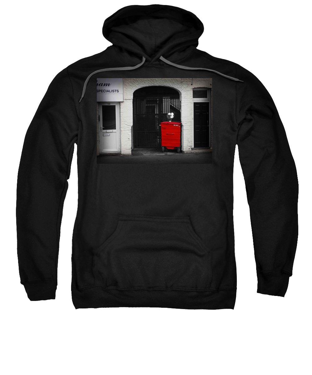 Fan Sweatshirt featuring the photograph Bin by Charles Stuart