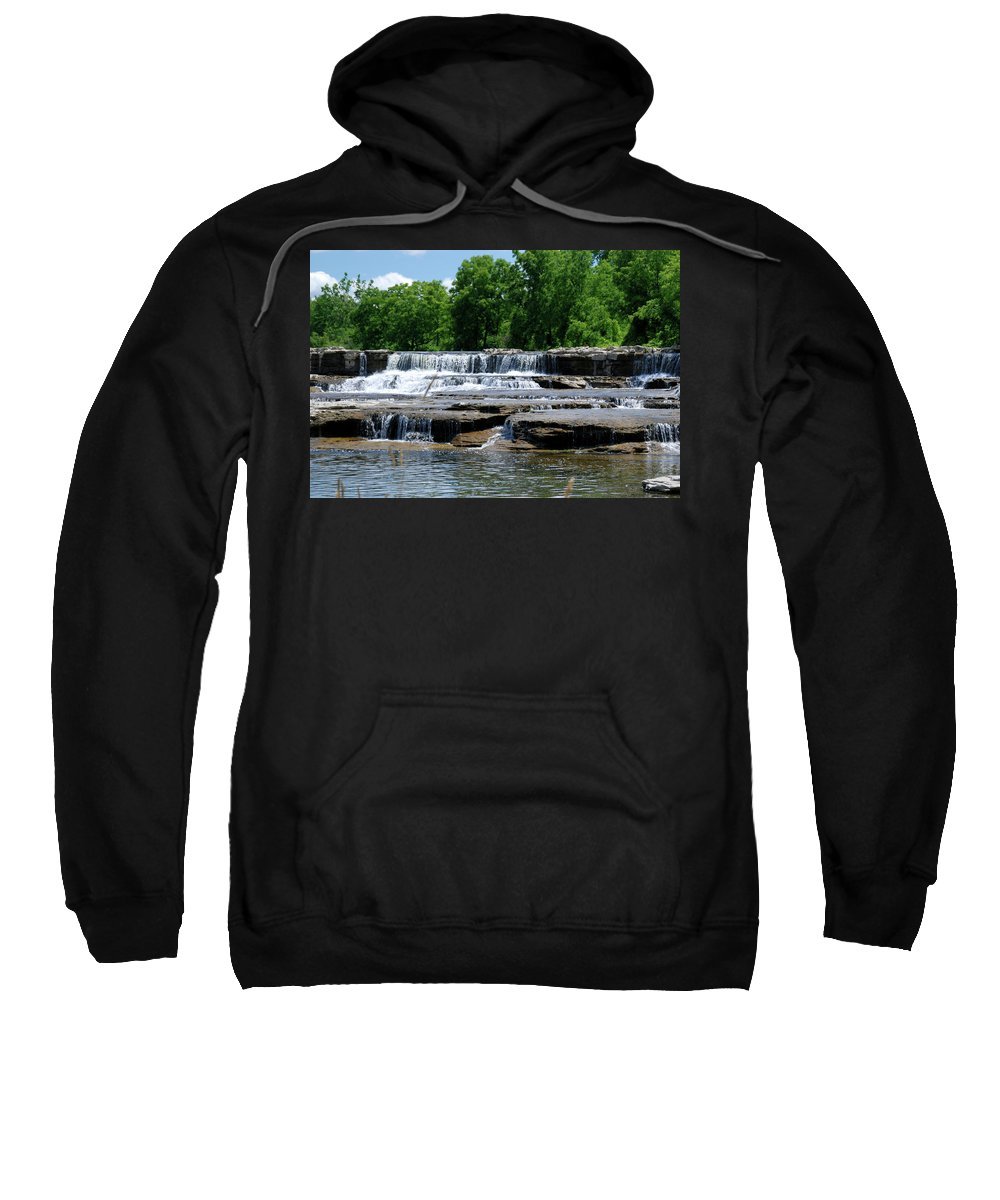 Waterfalls Sweatshirt featuring the photograph Blossom Road Waterfalls 5123 by Guy Whiteley