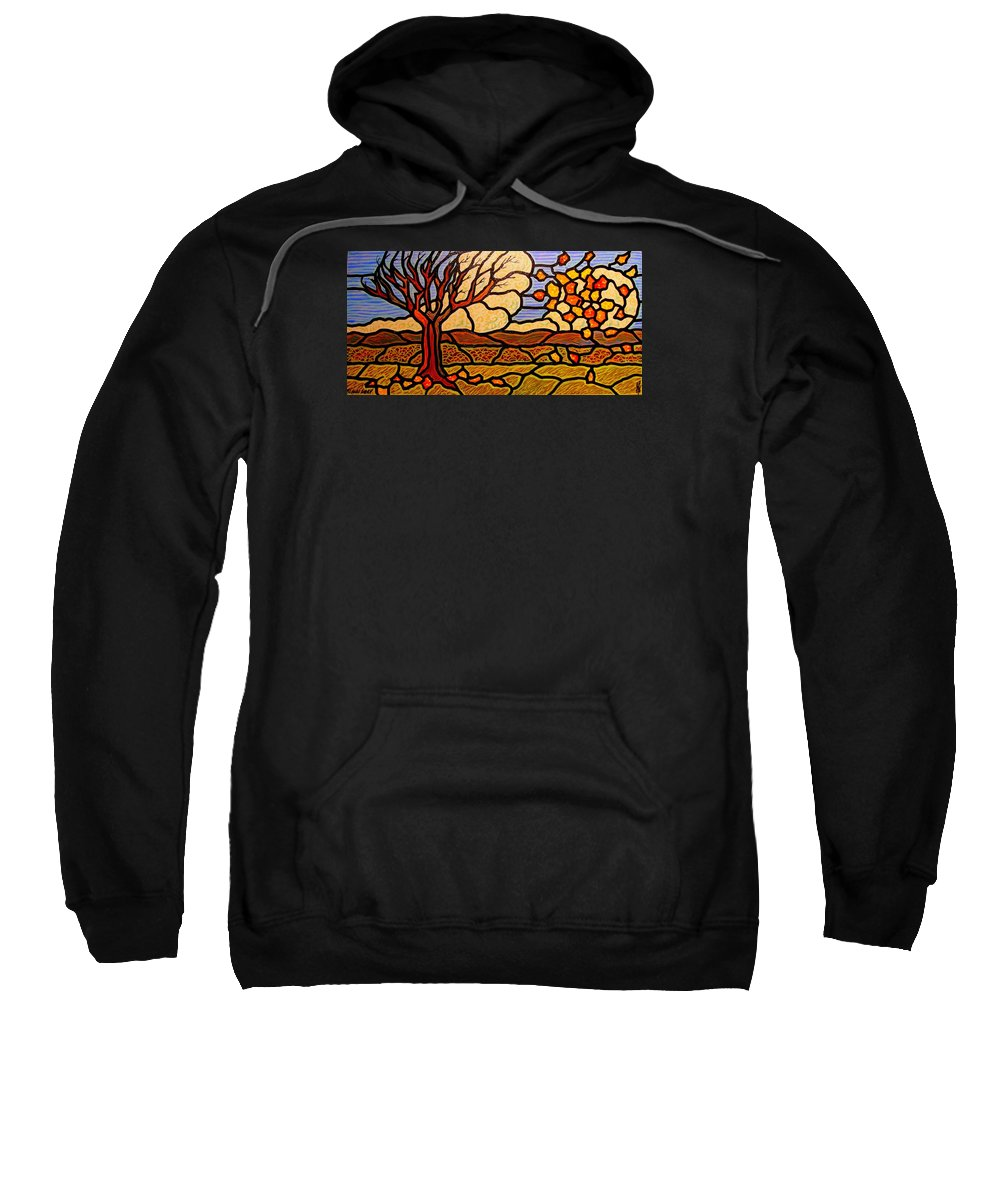 Fall Sweatshirt featuring the painting Blown Away by Jim Harris