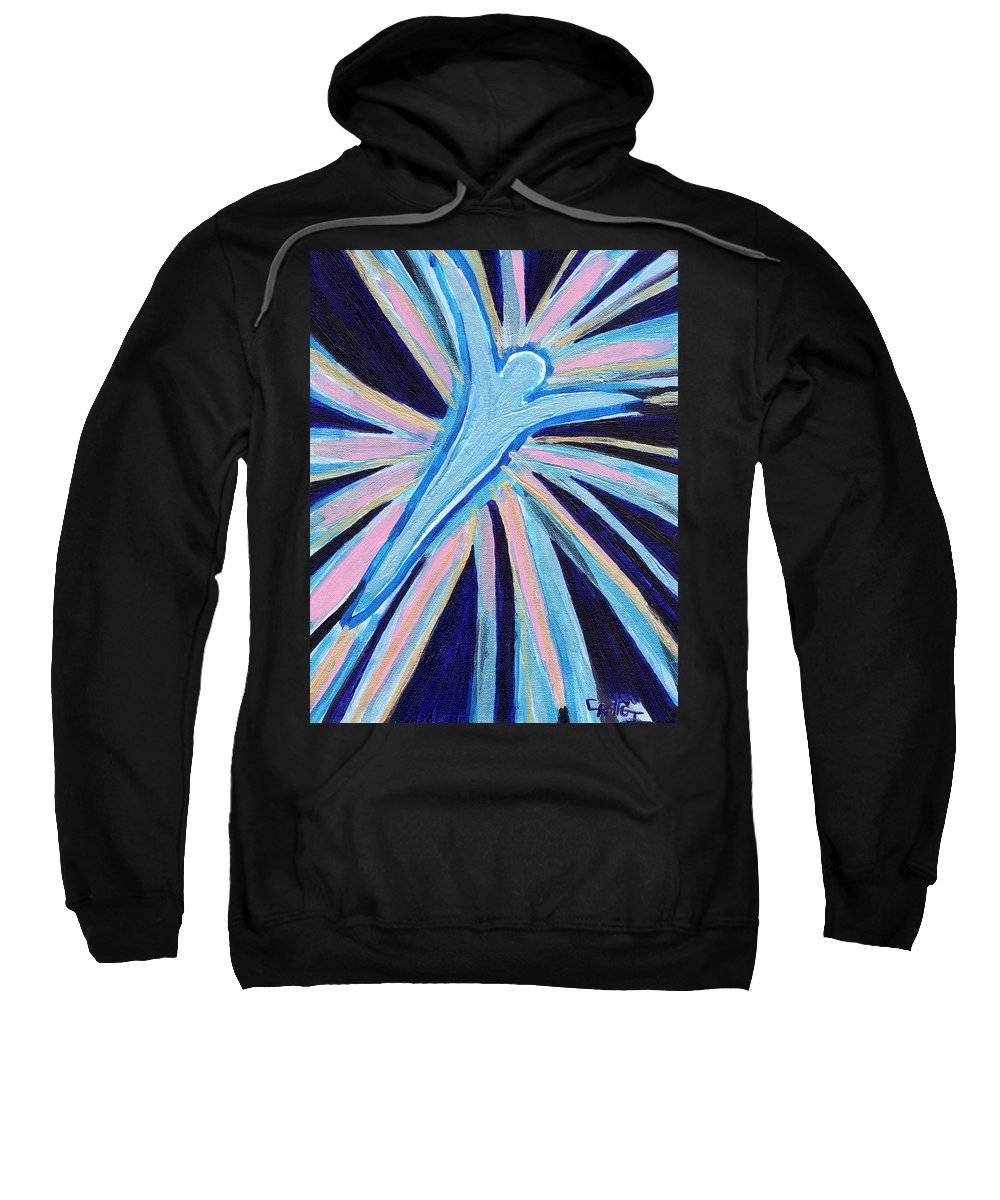 Angel Sweatshirt featuring the painting Blue Angel by Craig Imig