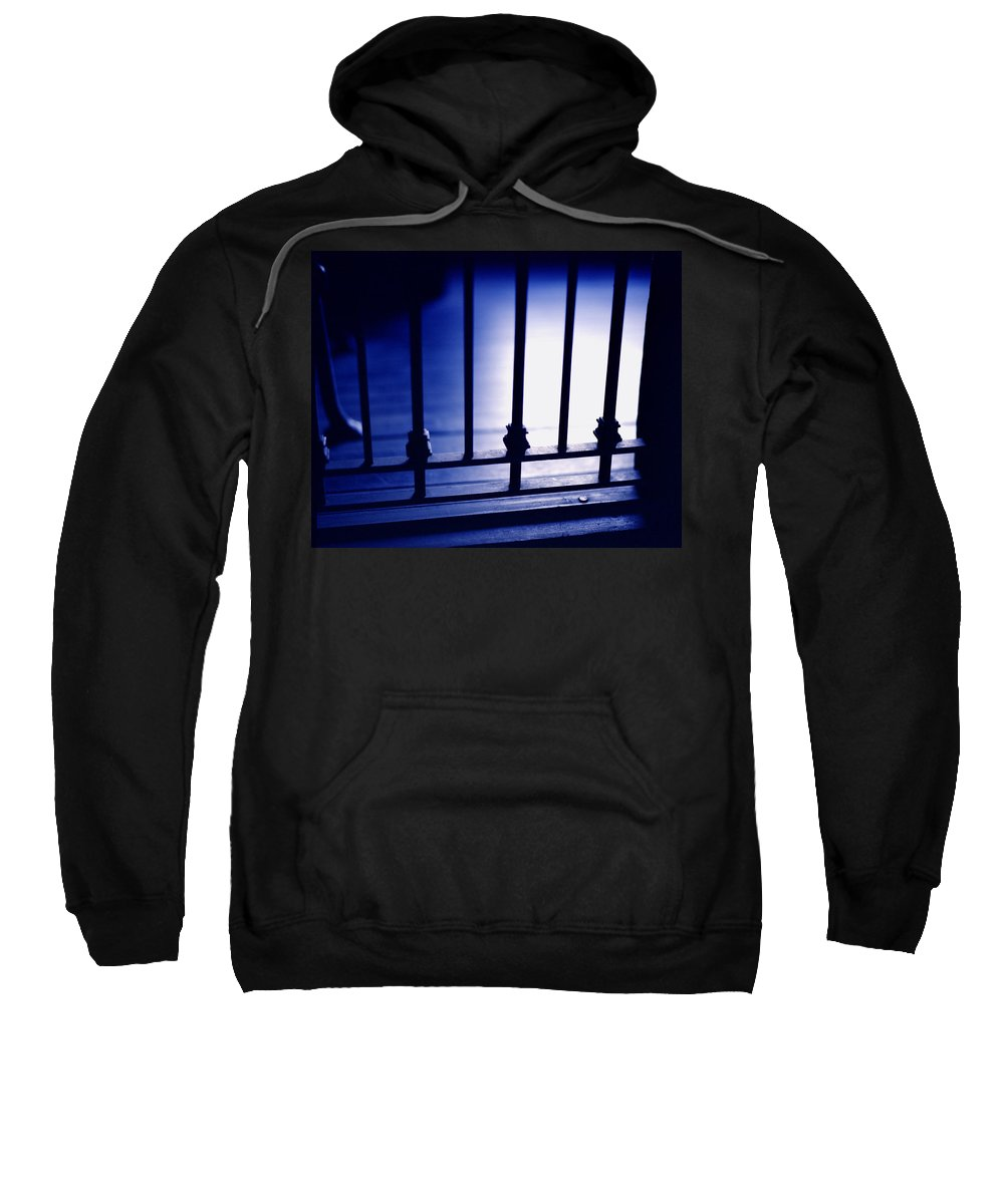 blue Mood Sweatshirt featuring the photograph Blue Mood by John Bowers