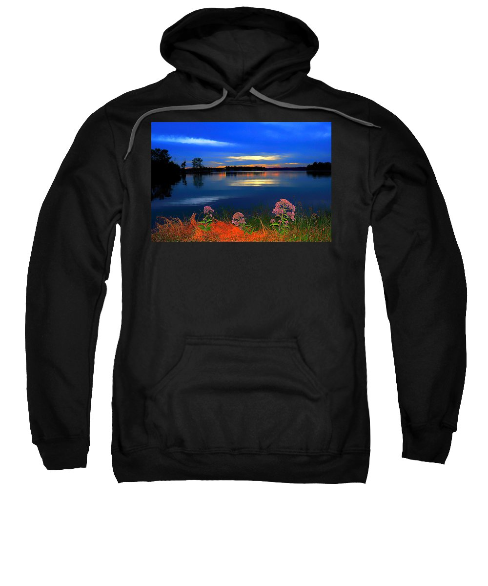 Blue Sweatshirt featuring the photograph Blue Must Be The Color Angels Choose by Randall Branham
