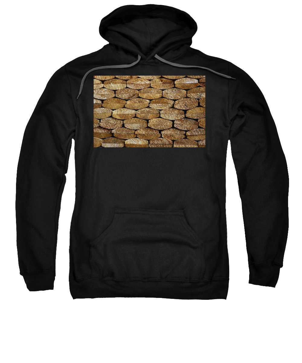 Pattern Sweatshirt featuring the photograph Boards In A Stack by David Chapman