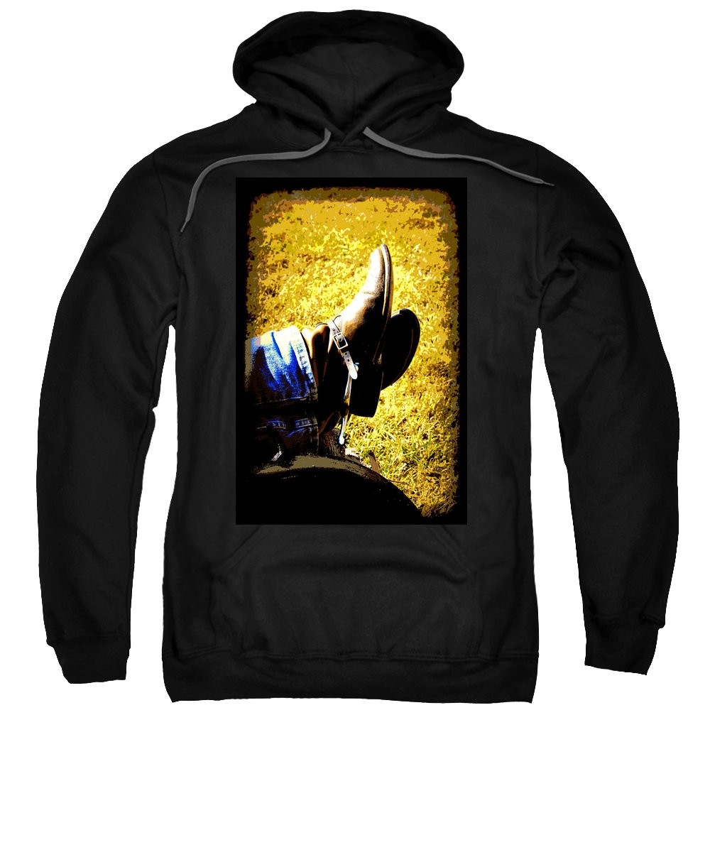 Boots Sweatshirt featuring the digital art Boots1 by Tina Meador