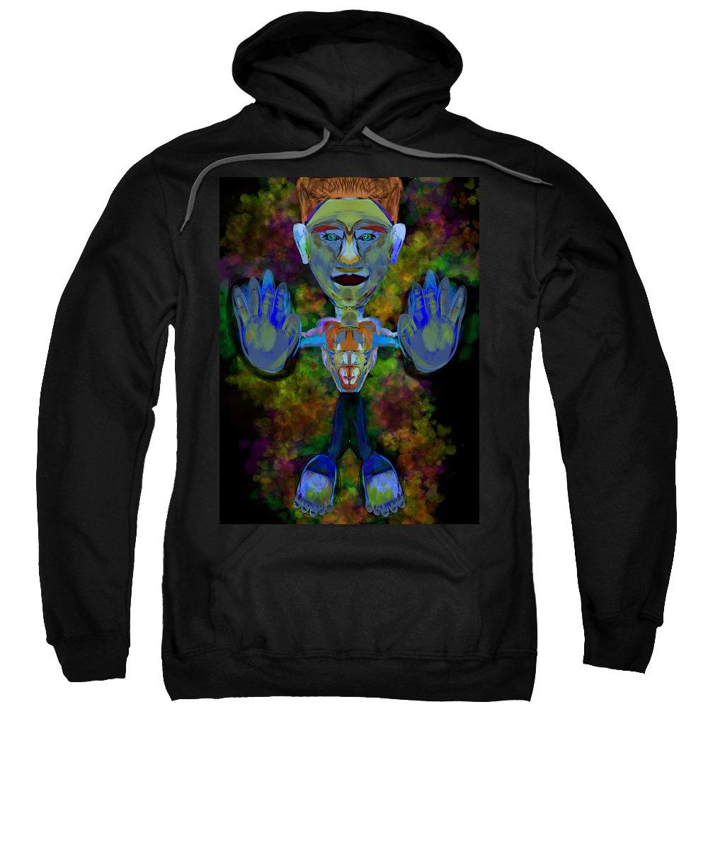 Sweatshirt featuring the digital art Boy Box by Mathieu Lalonde