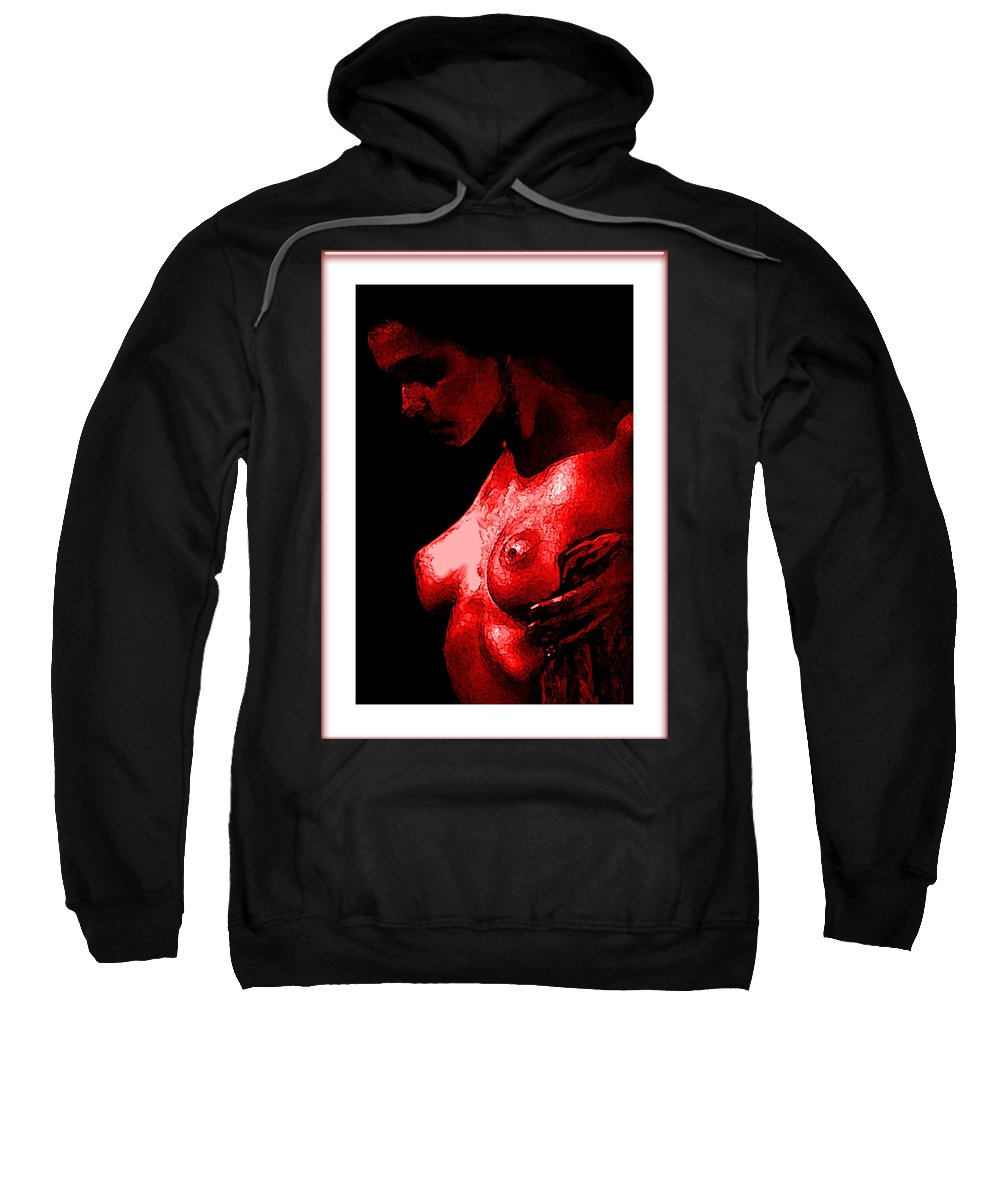 Fine Art Sweatshirt featuring the painting Breast In Color by Thomas Oliver