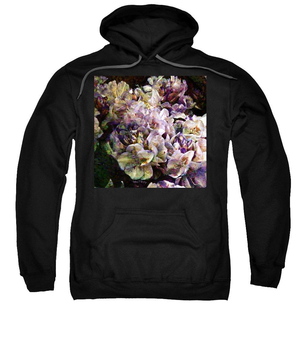 Bride Sweatshirt featuring the digital art Bridal Bouquet by Barbara Berney