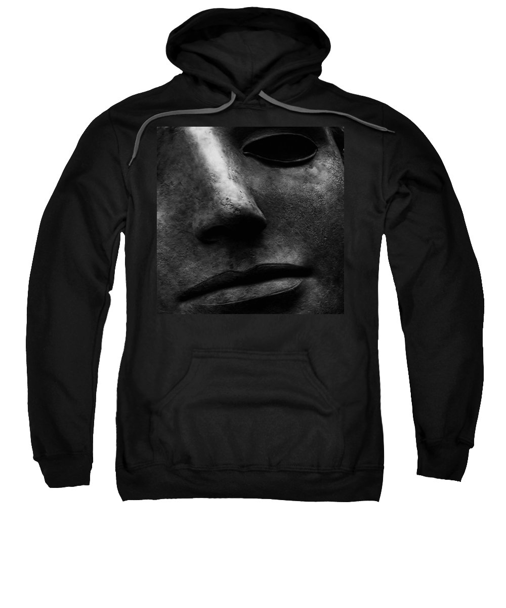 Bronze Sculpture Sweatshirt featuring the photograph Bronze Mask by Andrew Fare