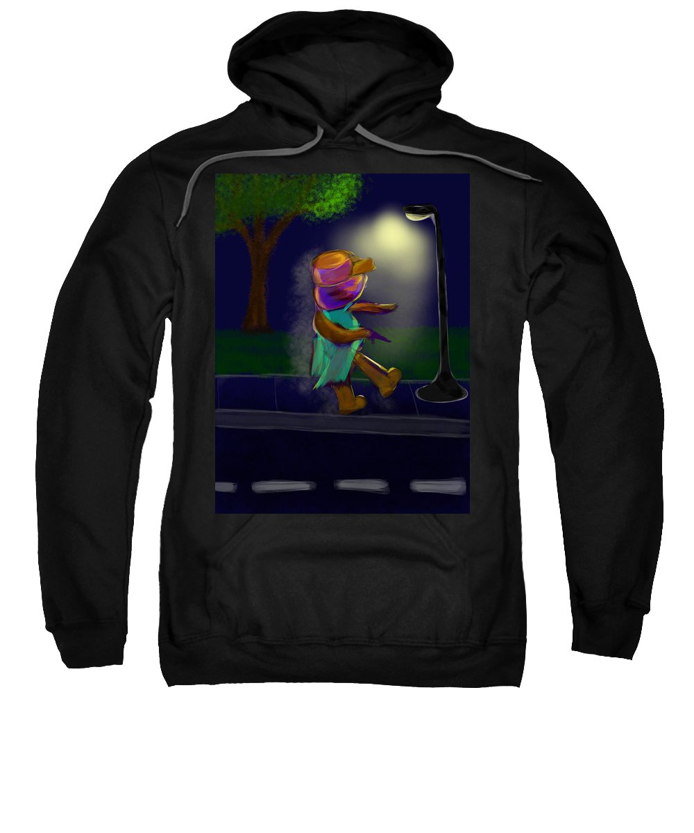 Sweatshirt featuring the digital art Brown Opps by Mathieu Lalonde