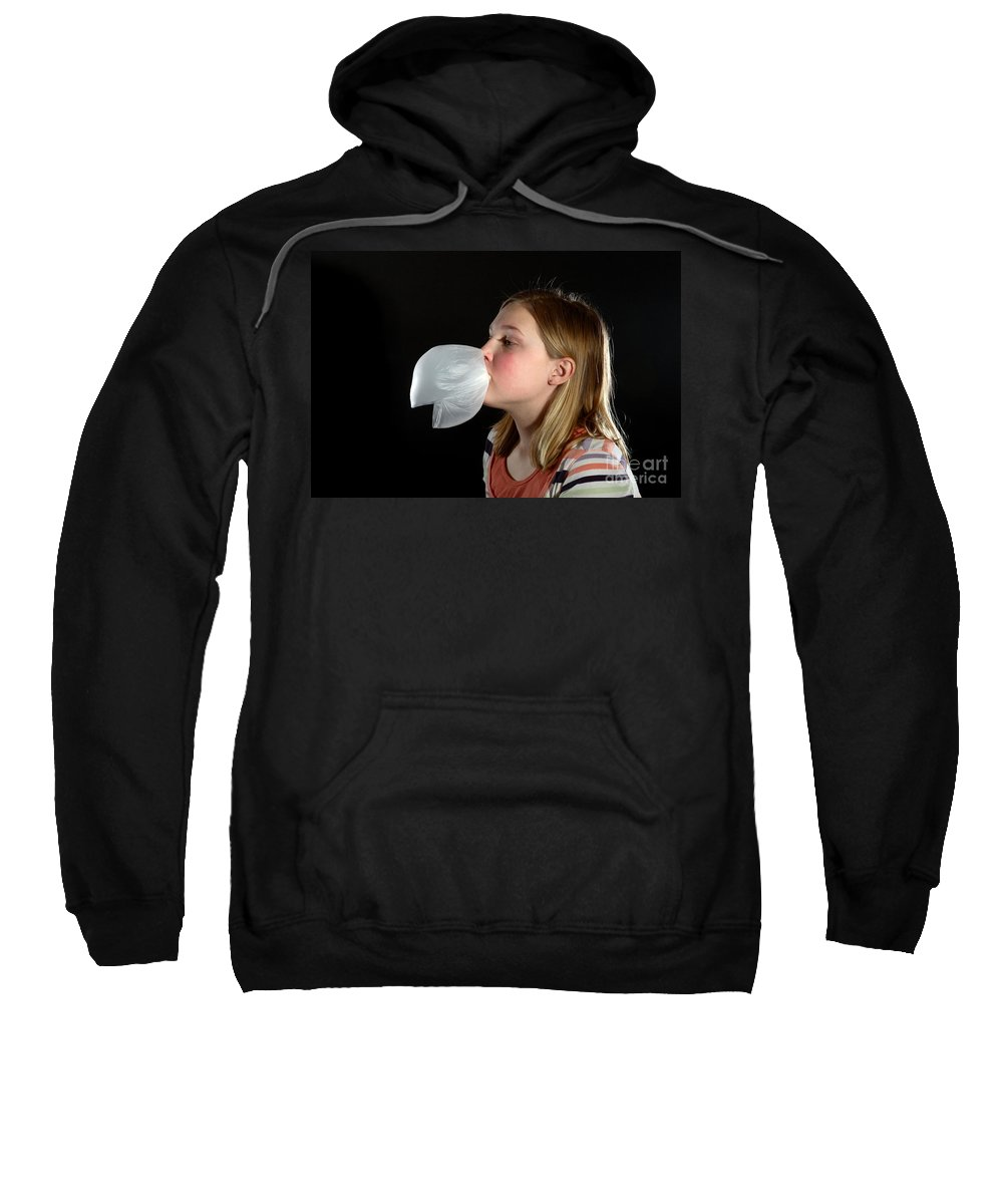 Gum Sweatshirt featuring the photograph Bubblegum Bubble 4 Of 6 by Ted Kinsman