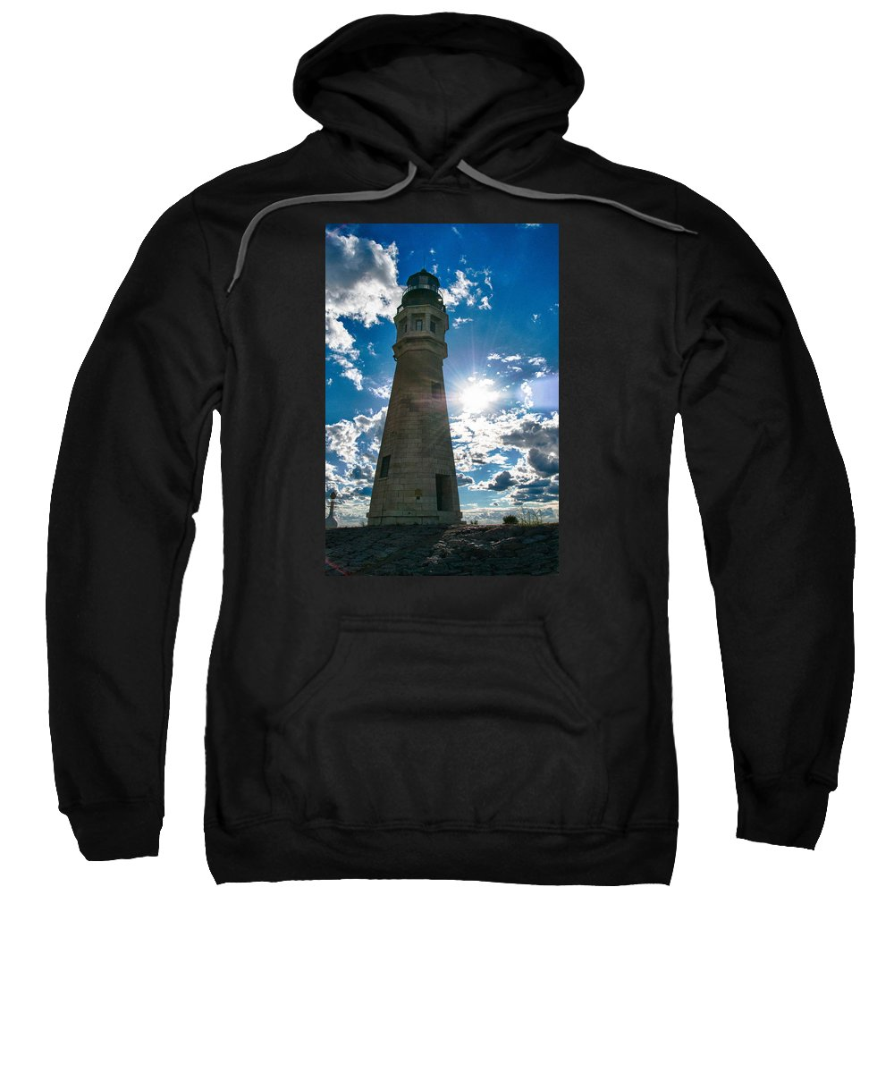 Buffalo Sweatshirt featuring the photograph Buffalo Lighthouse 15717c by Guy Whiteley