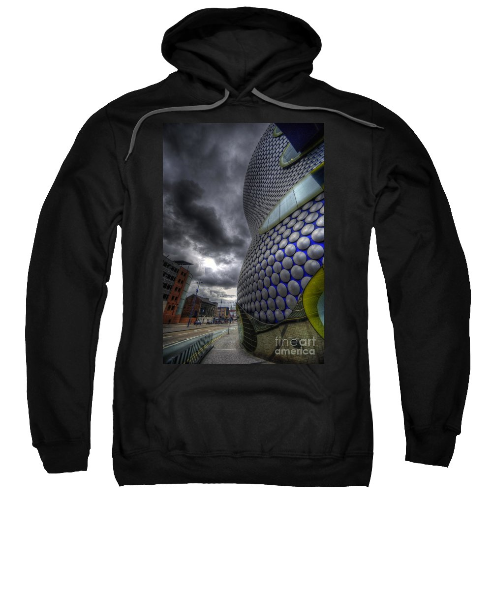 Hdr Sweatshirt featuring the photograph Bullring - Selfridges V3.0 by Yhun Suarez