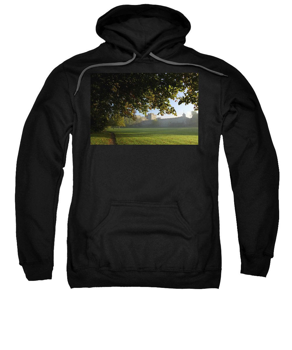 Blue Sky Sweatshirt featuring the photograph Cahir Castle Cahir, County Tipperary by Trish Punch